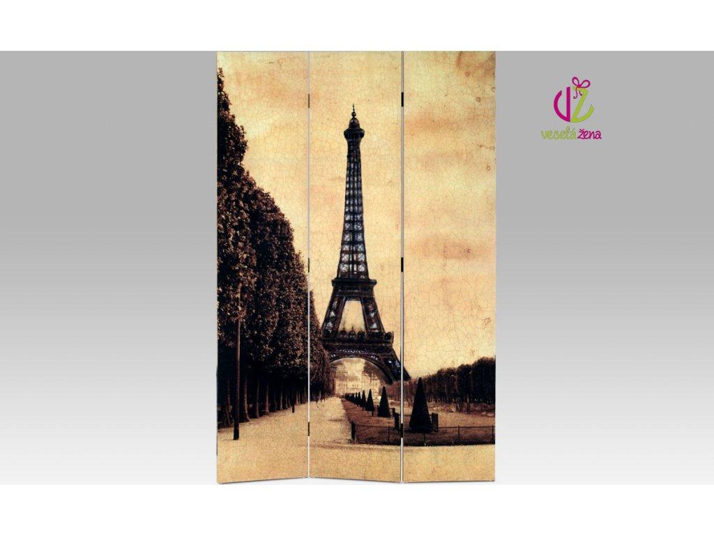 Paravan třídílný Paříž 114x180cm S motivem: C