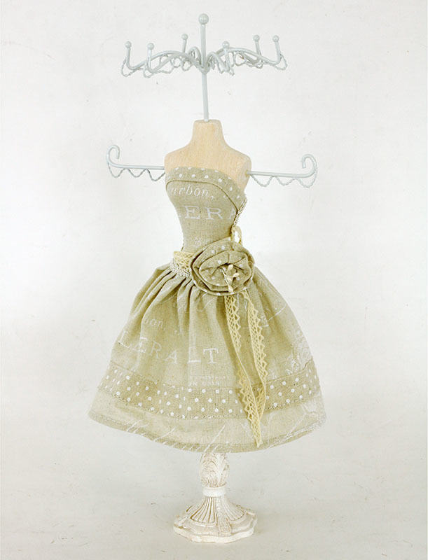 Stojan na šperky | polyresin | béžové šaty