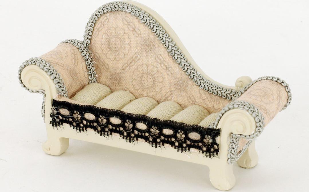Stojánek na prstýnky | sofa | krajka