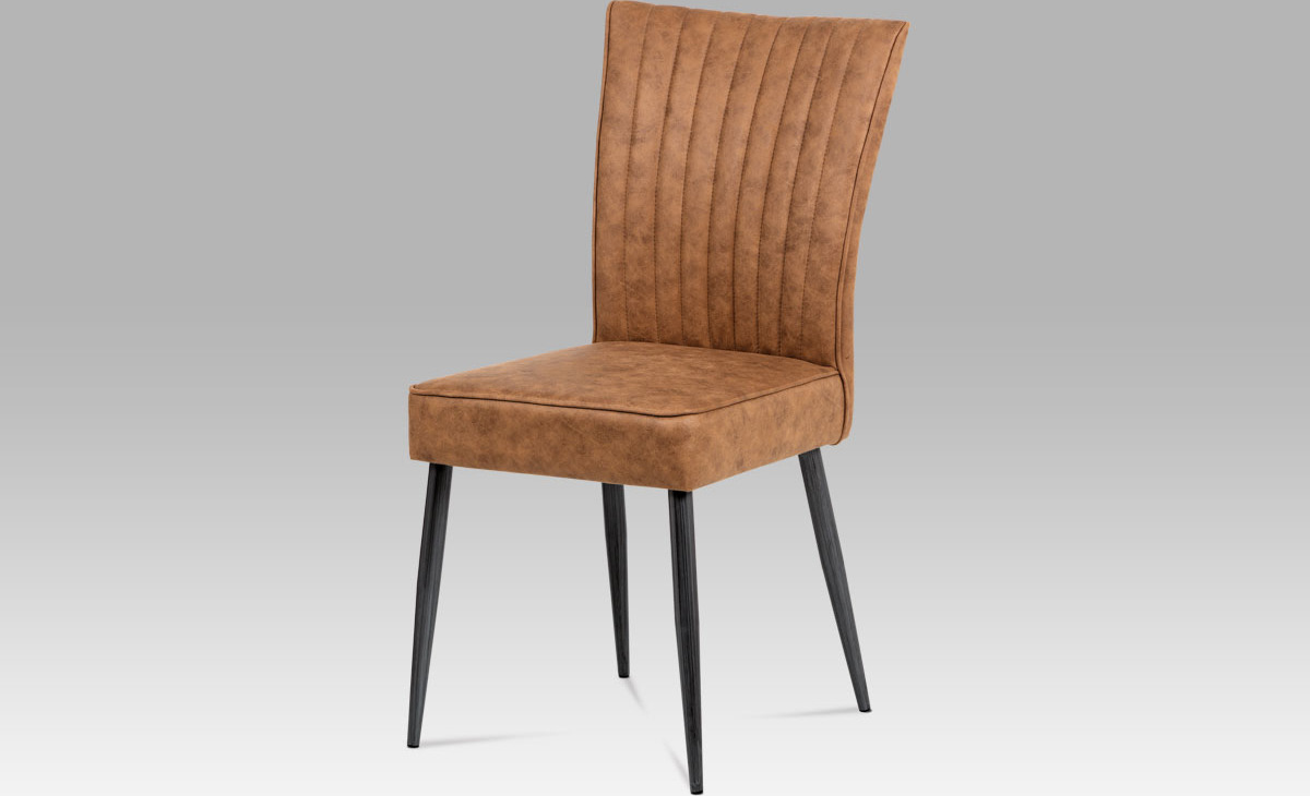 Jídelní židle | látka | broušený kov antik Barva: hnědá