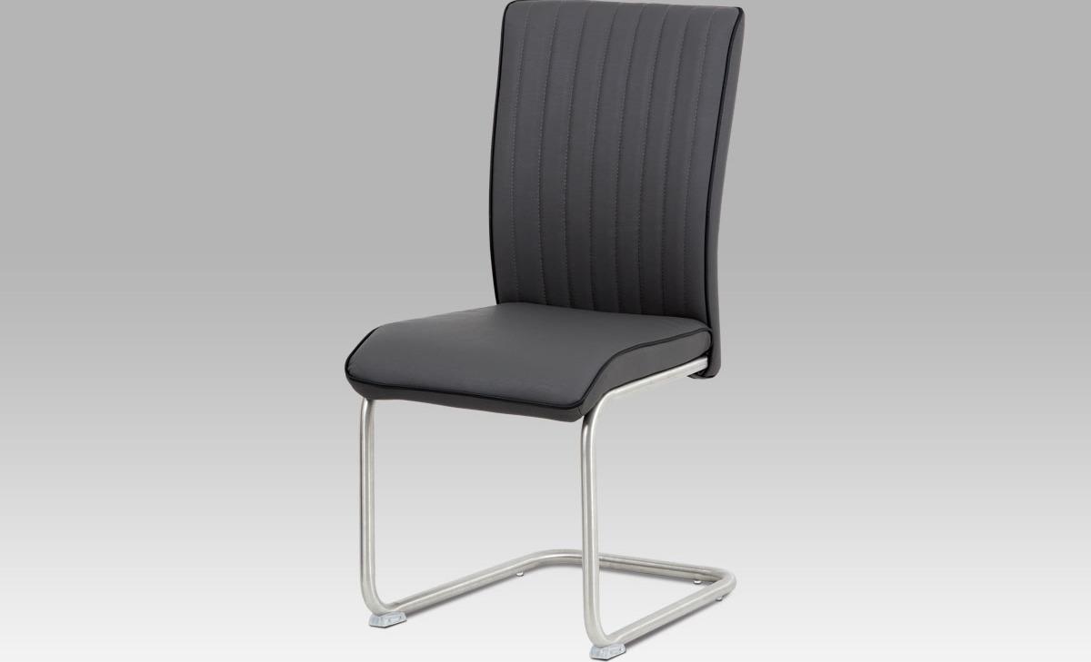 Artium Jídelní židle látka | broušený nerez Barva: šedá