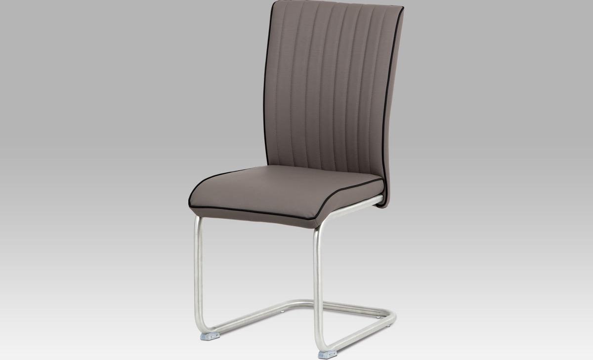 Artium Jídelní židle látka | broušený nerez Barva: cappuccino