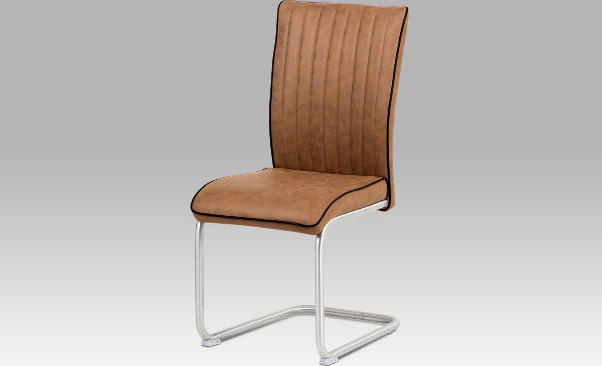 Artium Jídelní židle látka | broušený nerez Barva: hnědá