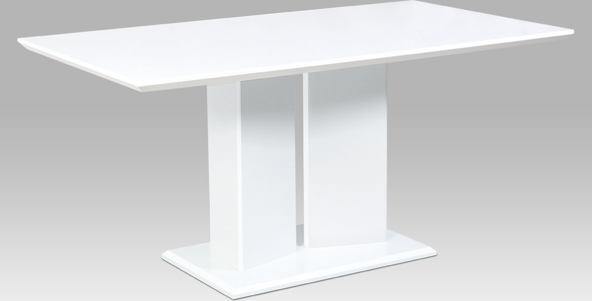 Jídelní stůl bílý matný 160x90cm
