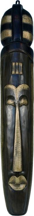 Dřevěná maska 18x16x100cm