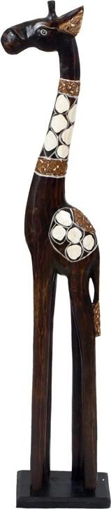Dřevěná žirafa 80cm