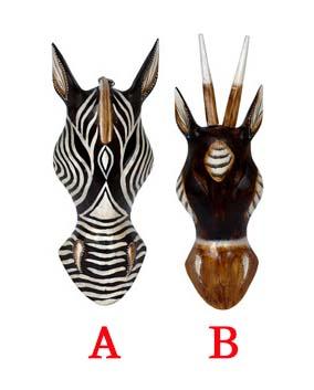 Autronic Dřevěná maska 2 druhy Provedení  B AUIND2485-87 B fffd7b24be
