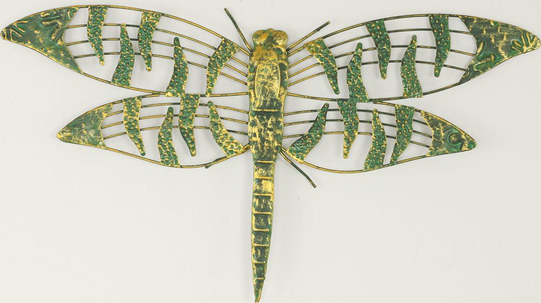 Kovová vážka k zavěšení 58,5x4x32,5cm
