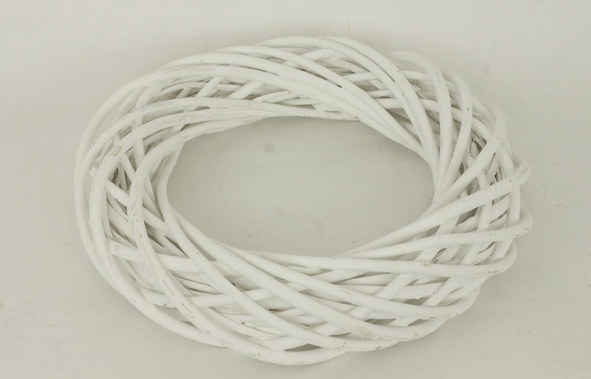 Proutěný věnec, bílá barva