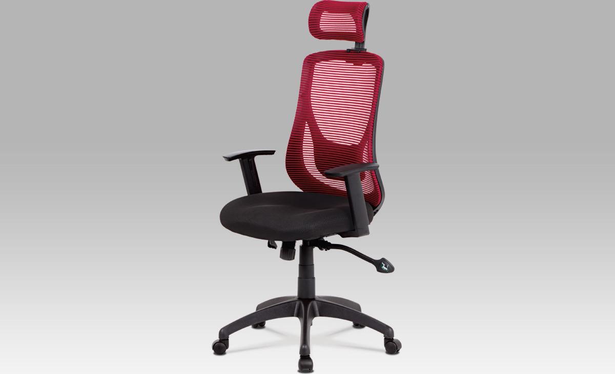 Kancelářská židle   synchronní mechanismus   látka Mesh Barva: červená