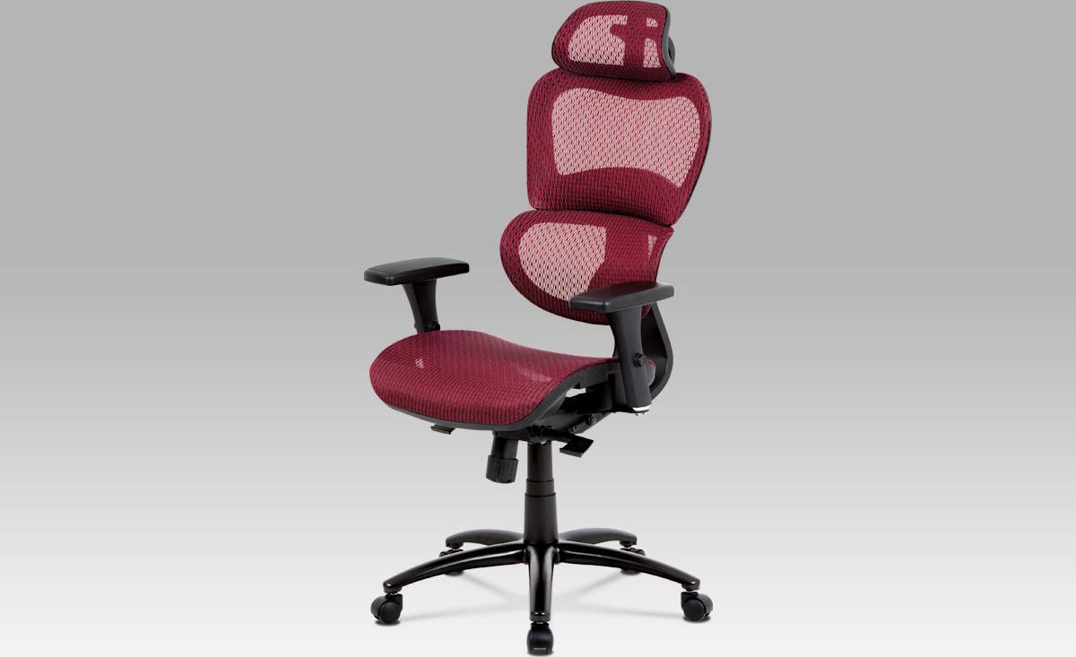 Kancelářská židle   synchronní mechanismus   kovový kříž Barva: červená