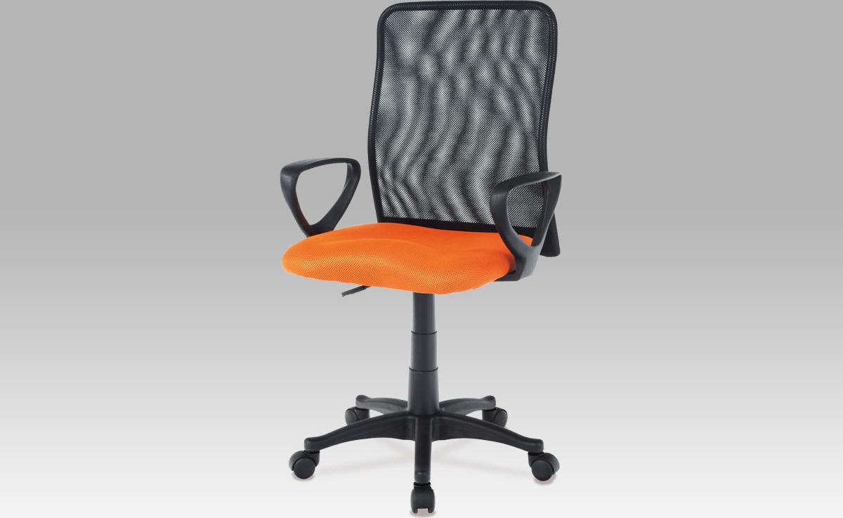 Kancelářská židle | látka MESH | plynový píst Barva: oranžová