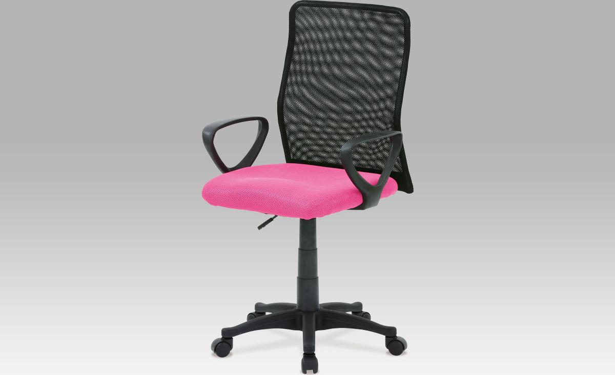 Kancelářská židle | látka MESH | plynový píst Barva: růžová