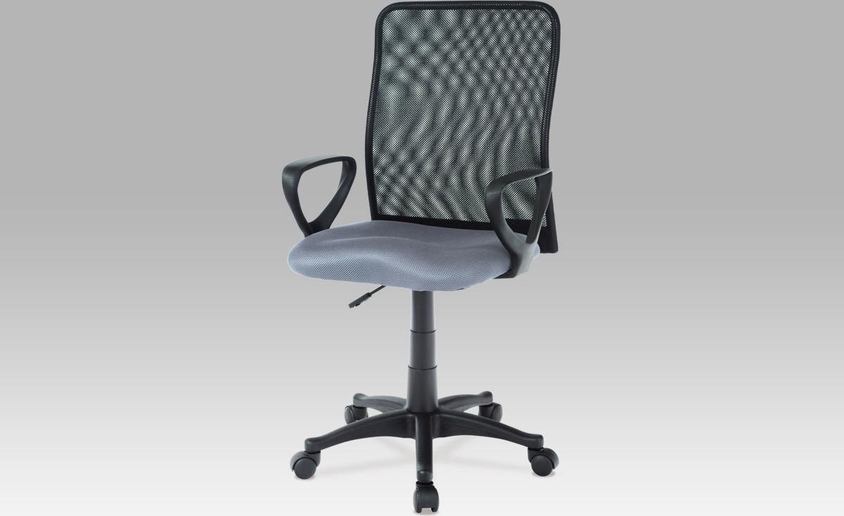 Kancelářská židle | látka MESH | plynový píst Barva: šedá