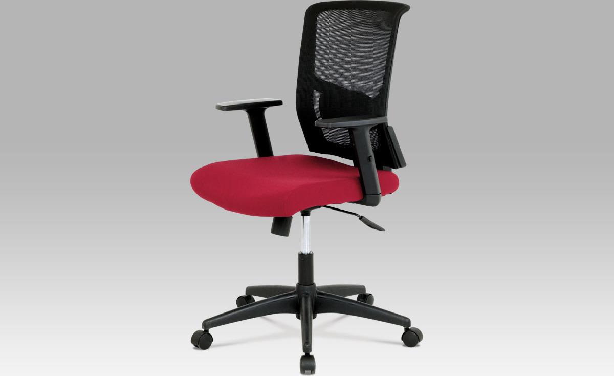 Kancelářská židle   látka   houpací mechanismus Barva: vínová