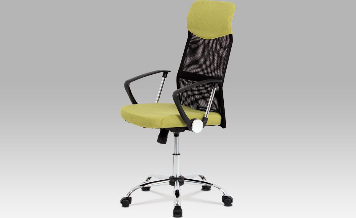 Kancelářská židle   houpací mechanika   kovový kříž Barva: zelená