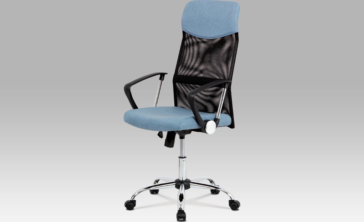 Kancelářská židle   houpací mechanika   kovový kříž Barva: modrá