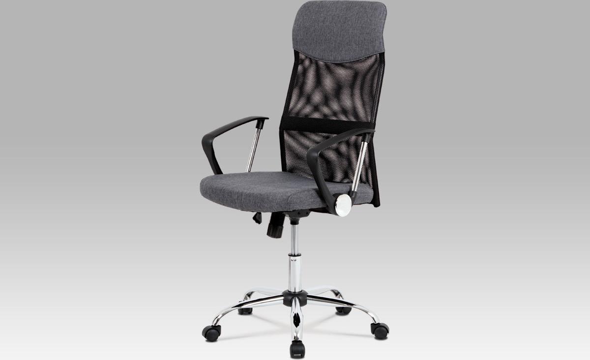 Kancelářská židle   houpací mechanika   kovový kříž Barva: šedá