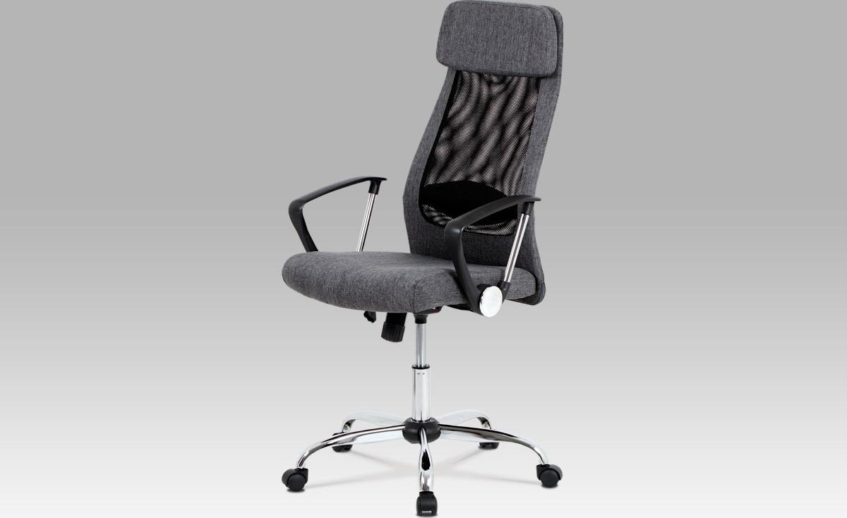Kancelářská židle   látka   kovový kříž   houpací mechanismus