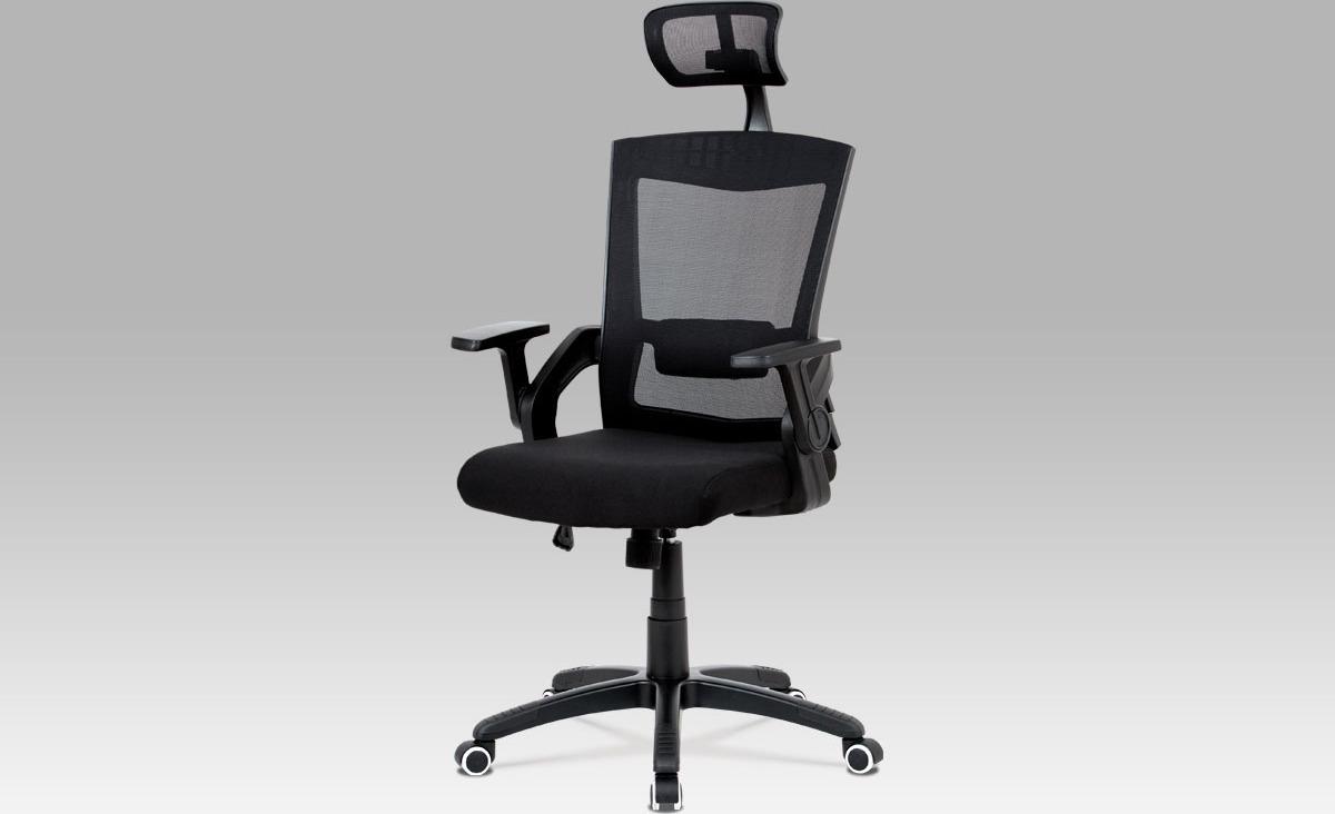 Kancelářská židle   s podhlavníkem   bederní opěrka Barva: černá