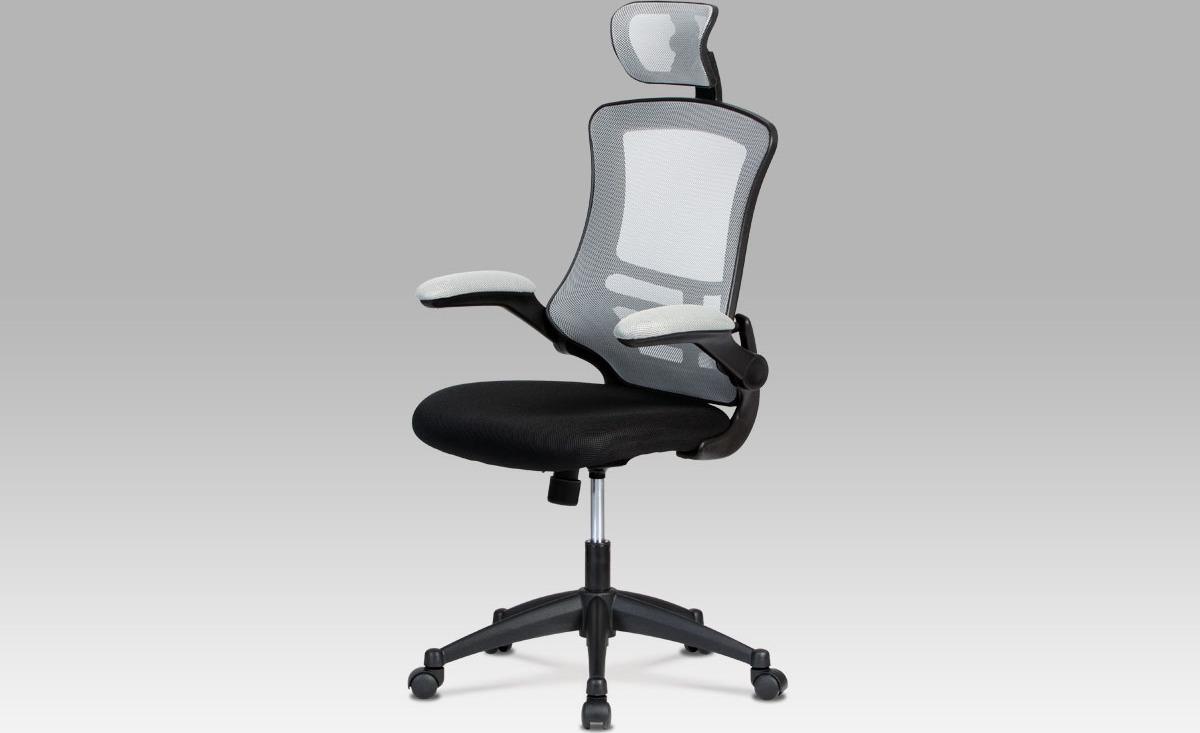 Kancelářská židle   podhlavník Barva: šedá