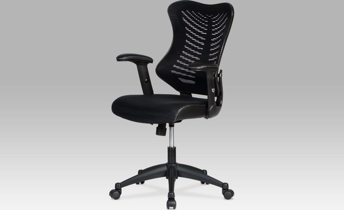 Kancelářská židle   látka mesh černá   houpací mechanismus
