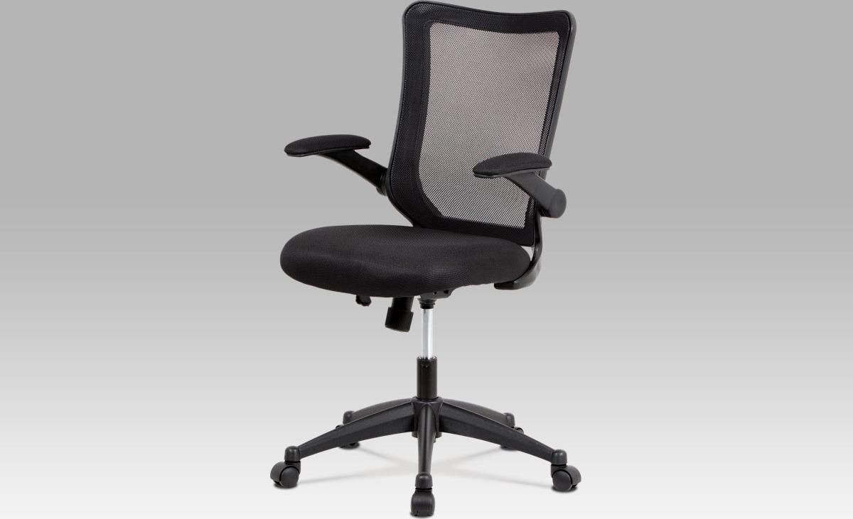 Kancelářská židle   houpací mechanismus   černá MESH   plastový kříž