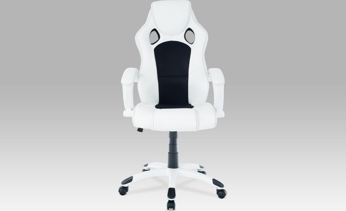 Kancelářská otočná židle   koženka Barva: bílá