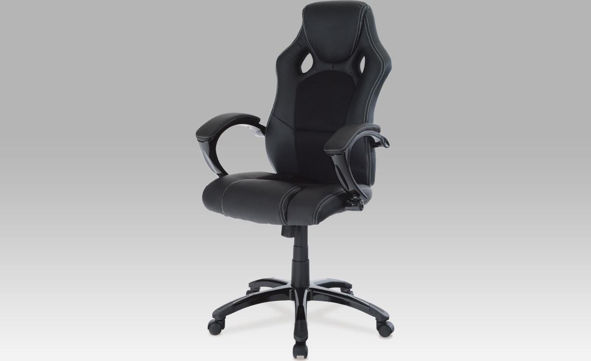 Kancelářská otočná židle   koženka Barva: černá