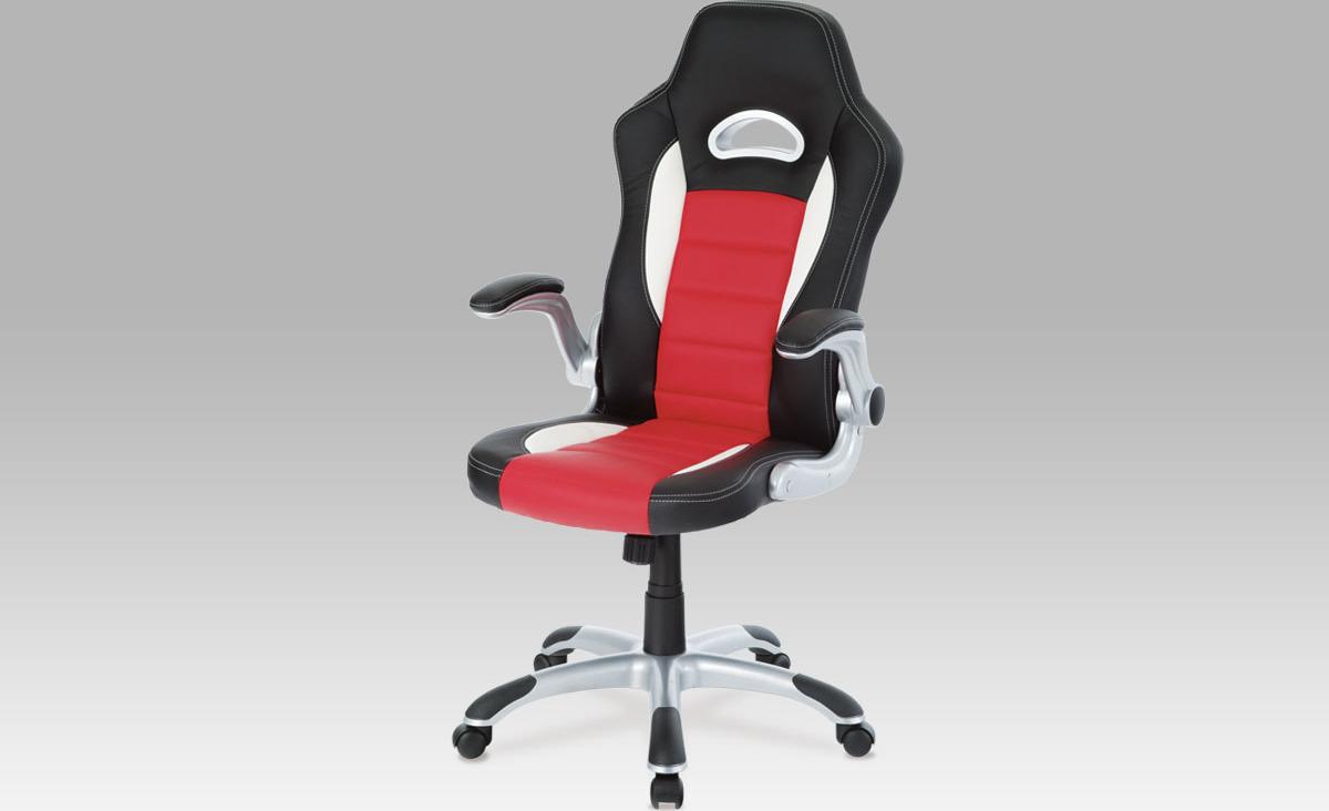 Kancelářská židle | koženka Barva: červená