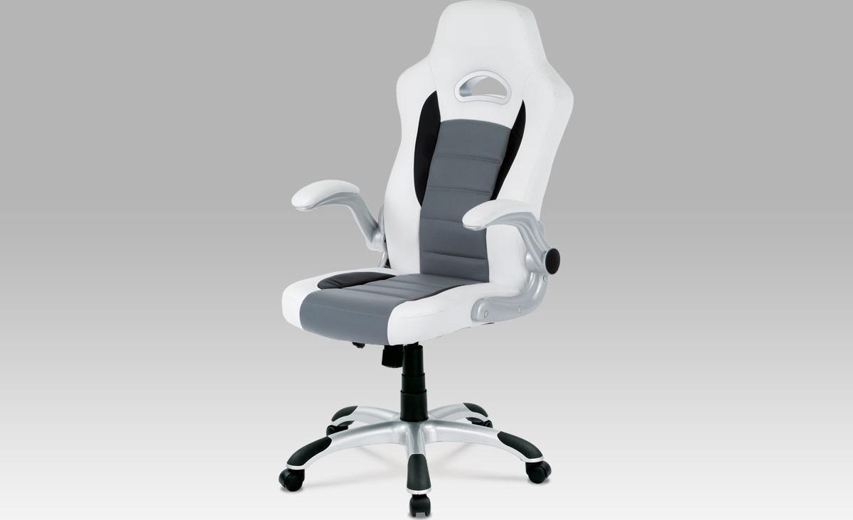 Kancelářská židle | koženka Barva: bílá