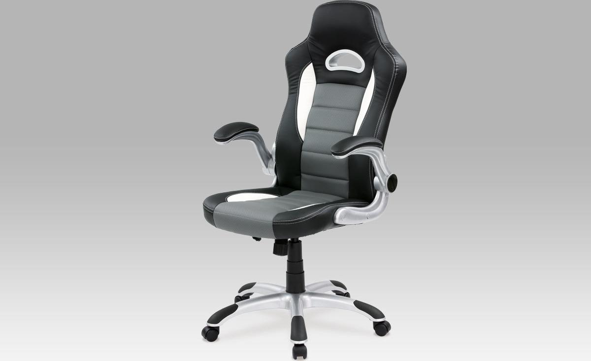 Kancelářská židle | koženka Barva: šedá