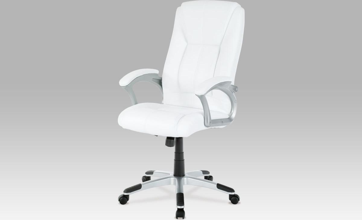Artium Kancelářské křeslo | koženka Barva: bílá