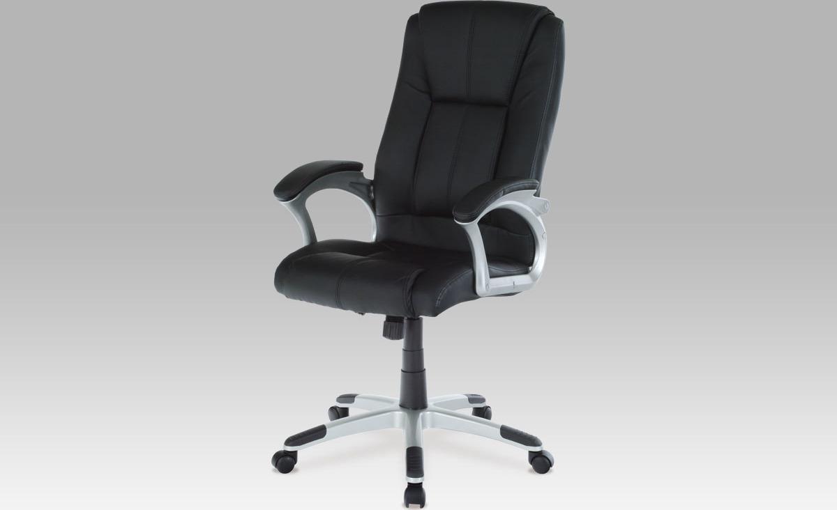 Artium Kancelářské křeslo | koženka Barva: černá