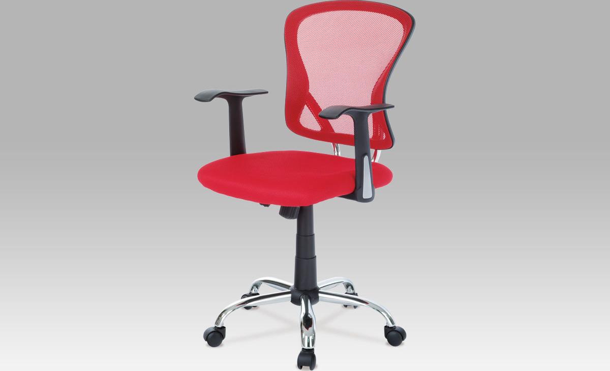 Kancelářská židle   mesh červená   houpací mechanismus