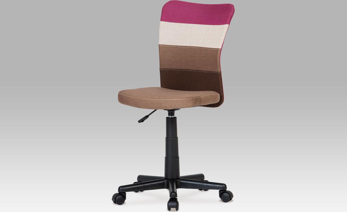Kancelářská židle | látka mix barev Barva: fialová