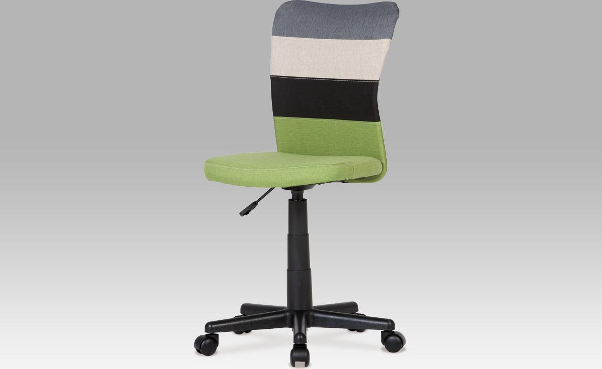 Kancelářská židle   látka mix barev Barva: zelená