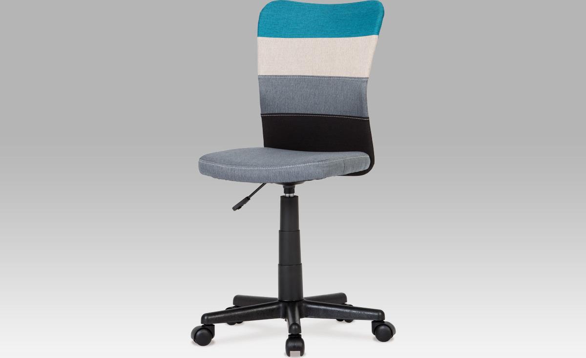 Kancelářská židle   látka mix barev Barva: modrá
