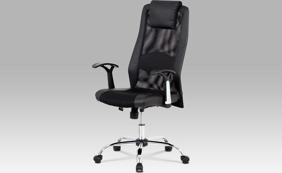 Kancelářská židle   houpací mechanismus   černá koženka