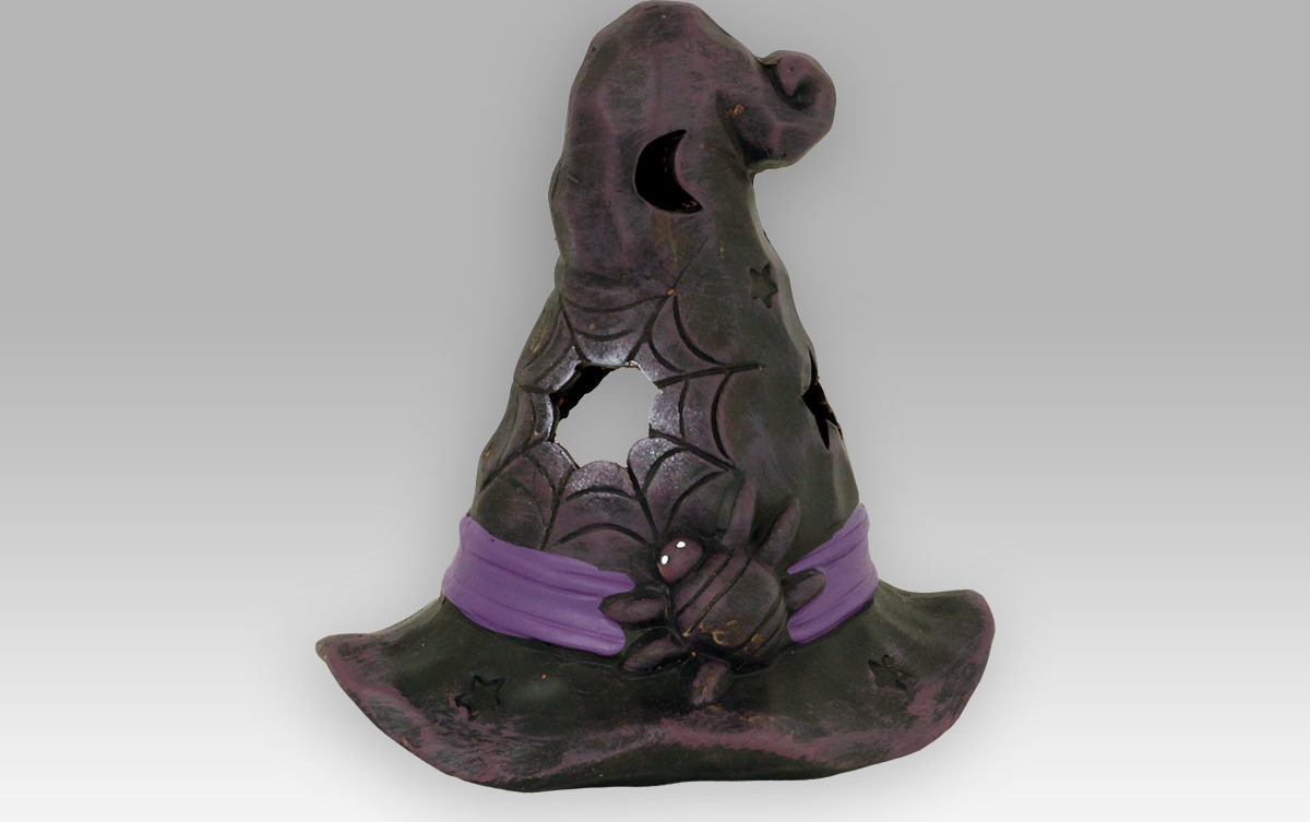 Keramický klobouk na čajovou svíčku 17x15x19cm