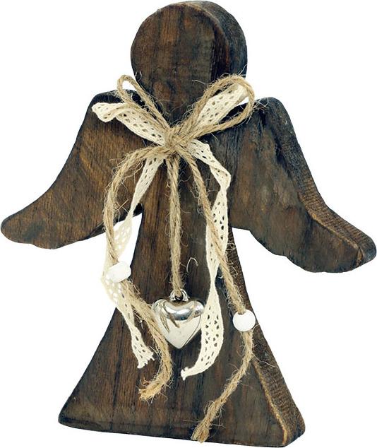Obrys anděla ze dřeva 17,5x16x2,5cm