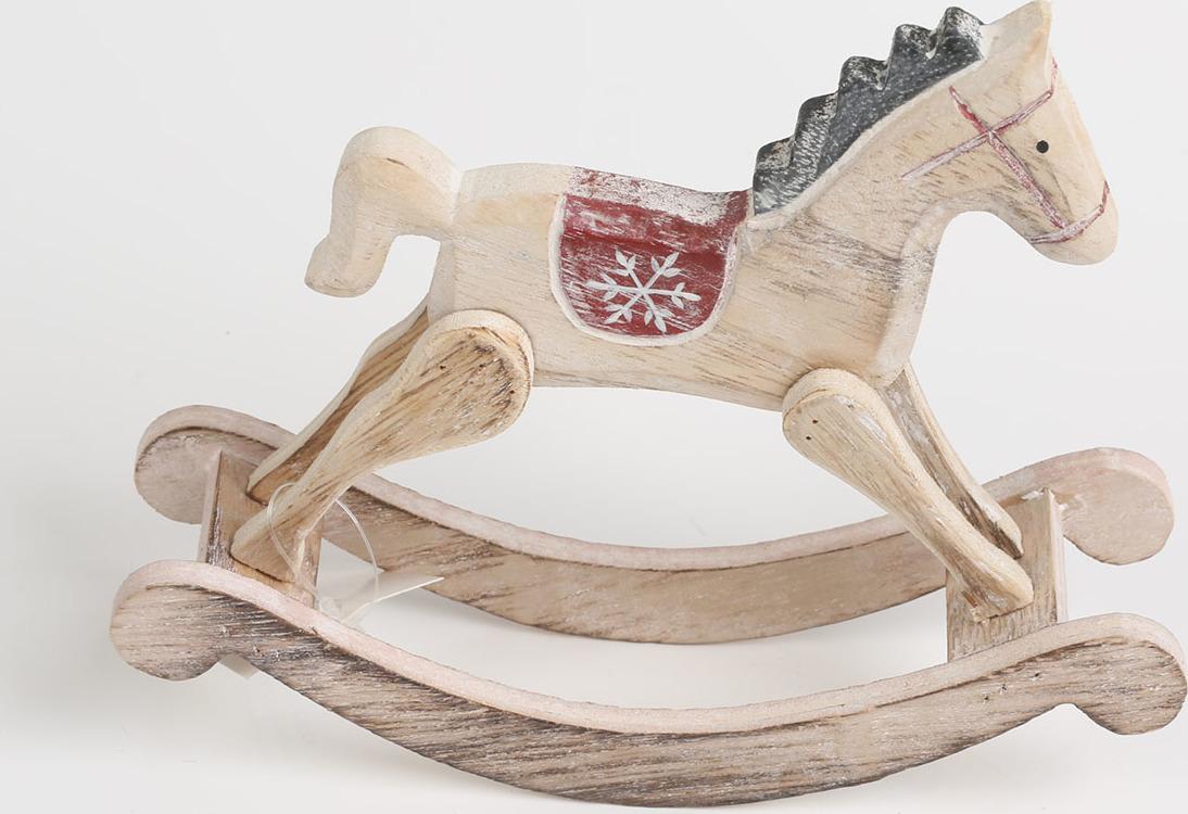 Artium Houpací kůň dřevěný 18x5x14cm
