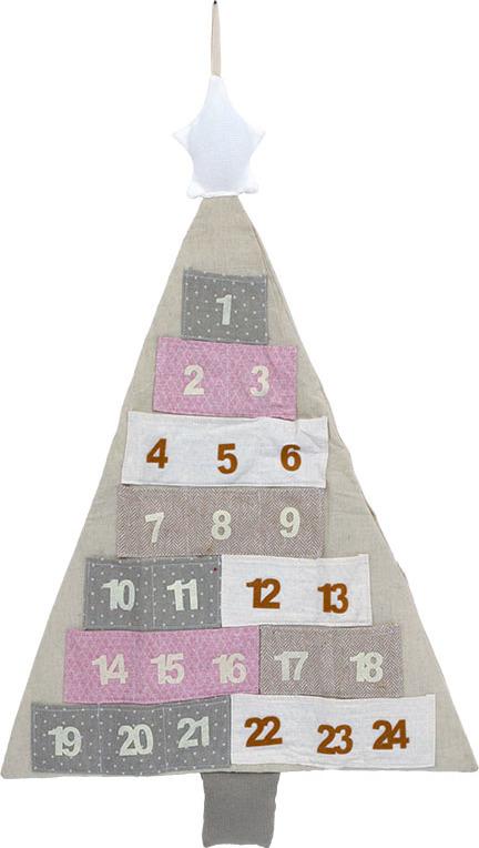 Adventní kalendář strom 78x49cm
