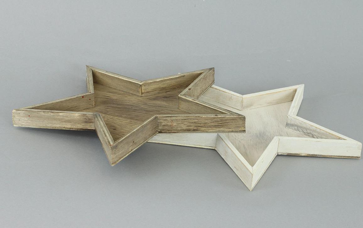 Hvězdička dřevěná dekorační 18x18cm Barva: světlá