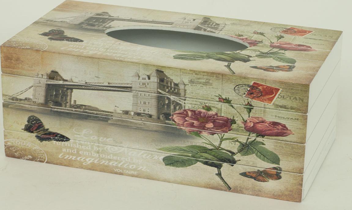 Autronic Krabička na kapesníky MDF Růže AUKP8727