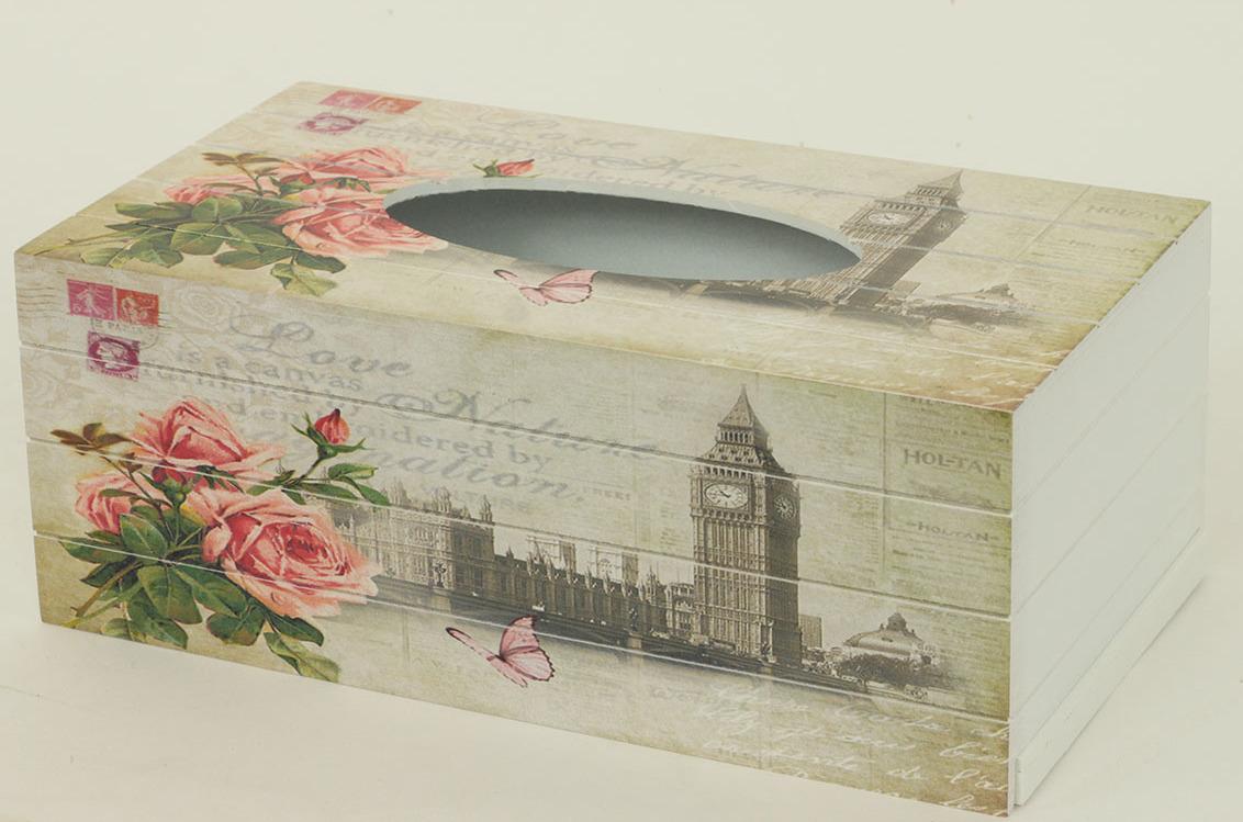 Autronic Krabička na kapesníky MDF Big Ben AUKP8728