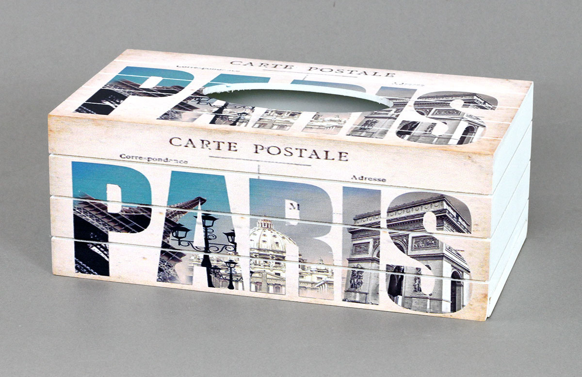 Autronic Krabička na kapesníky MDF Paris AUKP8753