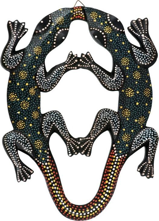 d1af5d480e5 Artium Dřevěná dekorace dvě ještěrky