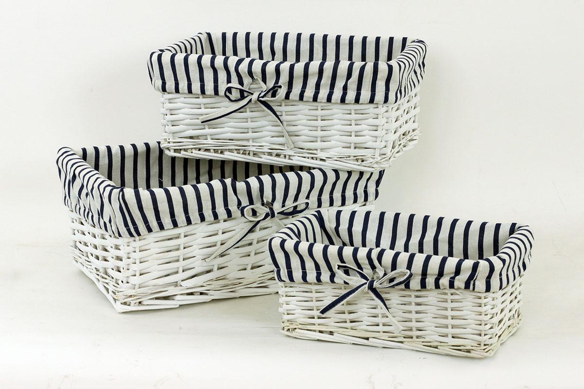 Proutěný košík, sada 3ks Barva: bílá