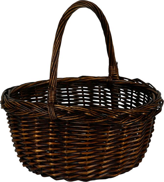 Artium Proutěný košík   tmavě hnědý